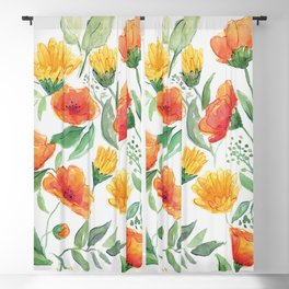 Spring Wildflowers Blackout Curtain