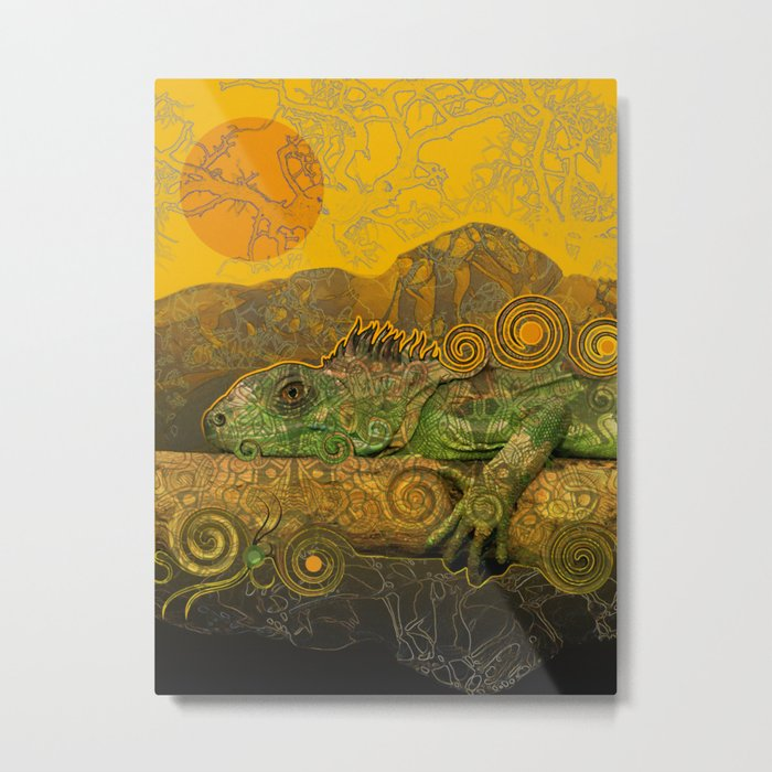 Just Chilling and Dreaming...(Lizard) Metal Print