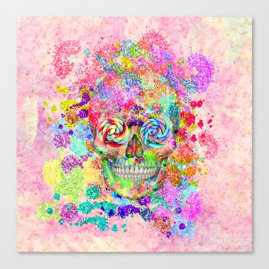 Paint Your Own Sugar Skull Canvas