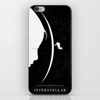 movie poster iPhone & iPod Skins featuring Interstellar Movie Poster by Dukesman