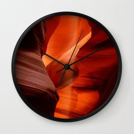 Marvelous Antelope Canyon Colors Wall Clock
