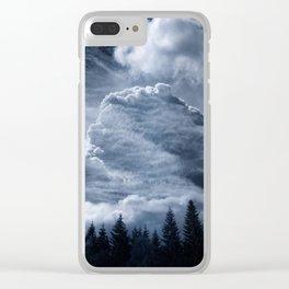 Drama Clouds Clear iPhone Case