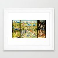 Framed Art Prints featuring The Garden of Earthly Delights by PureVintageLove