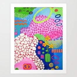 Mosaic Garden Art Print