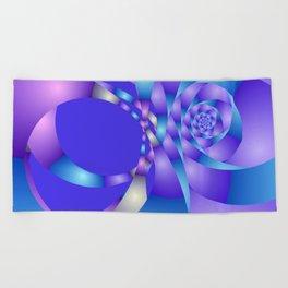 blue violet pattern -3- Beach Towel