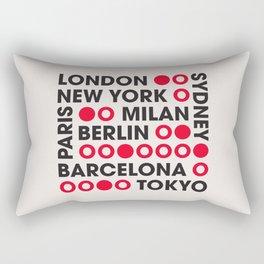 I Love This City Typography Rectangular Pillow