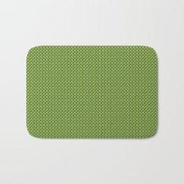 Knitted spring colors - Pantone Greenery Bath Mat