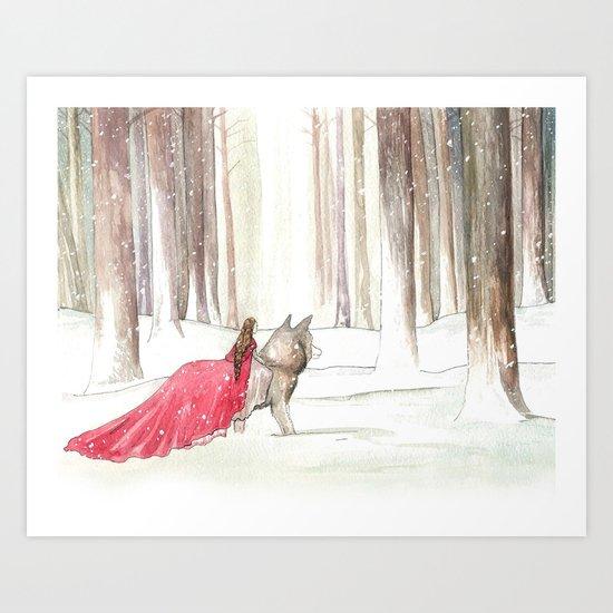 Lady Riding Hood Art Print