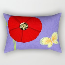 P is for Poppy Rectangular Pillow