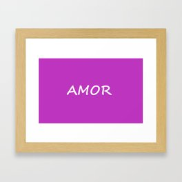 Amor, Spanish Love Framed Art Print