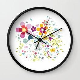 Schmetterlingswiese – Butterfly-Meadow Wall Clock
