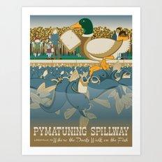 Pymatuning Spillway Art Print
