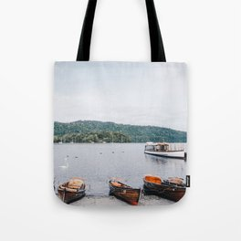 view of the lake in Windermere Tote Bag