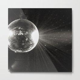 shiny disco ball Metal Print