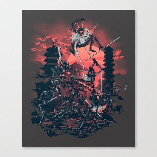 The Showdown Canvas Print