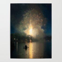 Fireworks on Crystal Lake Poster