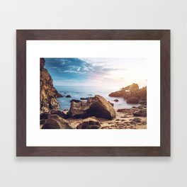 Little Corona Del Mar Beach Framed Art Print
