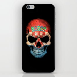 Dark Skull with Flag of Croatia iPhone Skin
