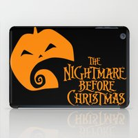 nightmare before christmas iPad Cases featuring The Nightmare before Christmas by Citron Vert