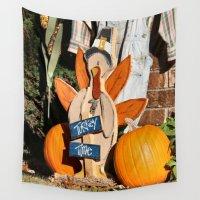 turkey Wall Tapestries featuring Turkey Timer by IowaShots