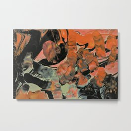 Fall Thoughts - Abstract Acrylic Painting Metal Print