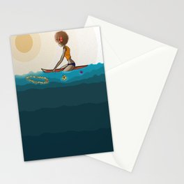 surfing in sunnies Stationery Cards