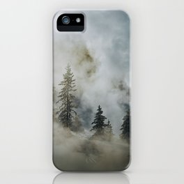 Geyser Steam and Hoarfrost in Yellowstone iPhone Case