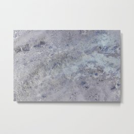 Speckled Blue and Gray Marble Metal Print