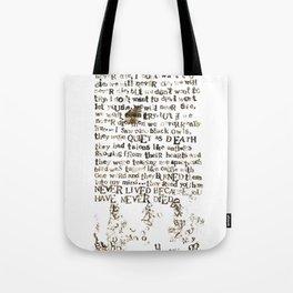 Listener Lyrics Poster Tote Bag