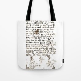 Listener Lyrics Poster Tote Bag