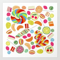 Rainbow candies Art Print