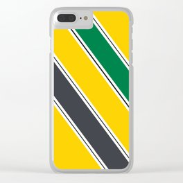 Ayrton Senna Stripes Clear iPhone Case