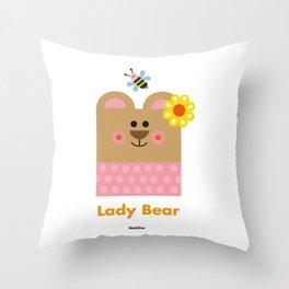 Lady Bear Throw Pillow