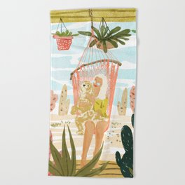 Desert Home Beach Towel