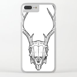 Deer head trophy with horns Clear iPhone Case