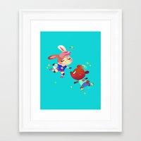 roller derby Framed Art Prints featuring Roller Derby by tinysnails