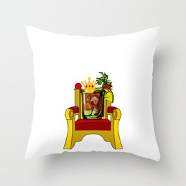 Bloody Mary Queen Drinking Bloody Marys Throw Pillow
