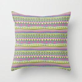Stripey-Fairytale Colors Throw Pillow