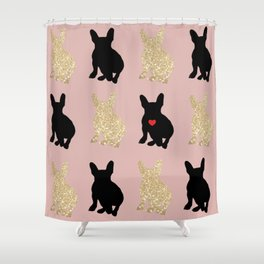 Dazzling French Bulldogs Shower Curtain