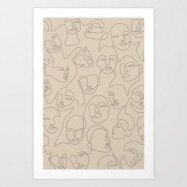 She's Beige Art Print