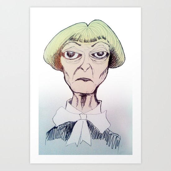 Betty D eyes Art Print