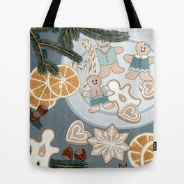 Gingerbread Men Cookies Tote Bag