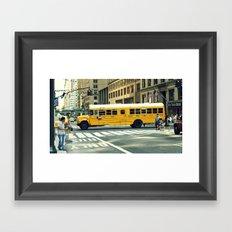 New York school bus Framed Art Print