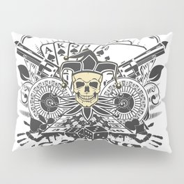 Skull Casino Pillow Sham