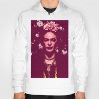 frida Hoodies featuring Frida by Marialaura