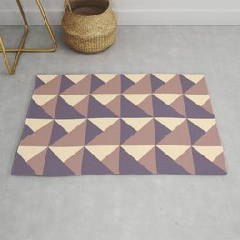 Mountains - Purple, Gold, Red Geometric Rug
