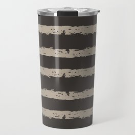 Texture Stripe Seaside Stone and Baja Dunes Travel Mug