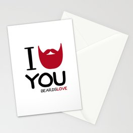 I BEARD YOU Stationery Cards