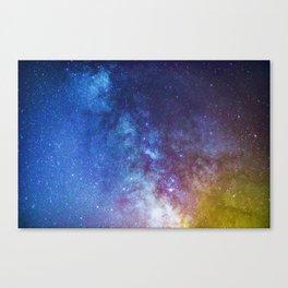 Purple Star Galaxy Canvas Print