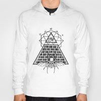 pyramid Hoodies featuring Pyramid by alesaenzart